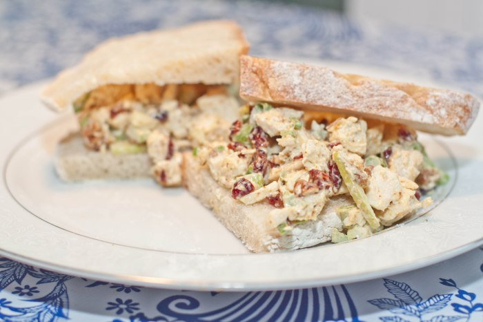 Spice up your standard chicken salad with curry, apples, and cranberries!