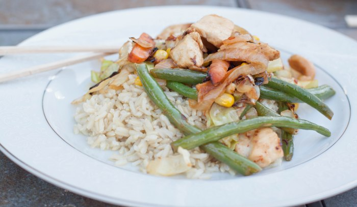 Quick, easy, HEALTHY Chicken Veggie Stir Fry