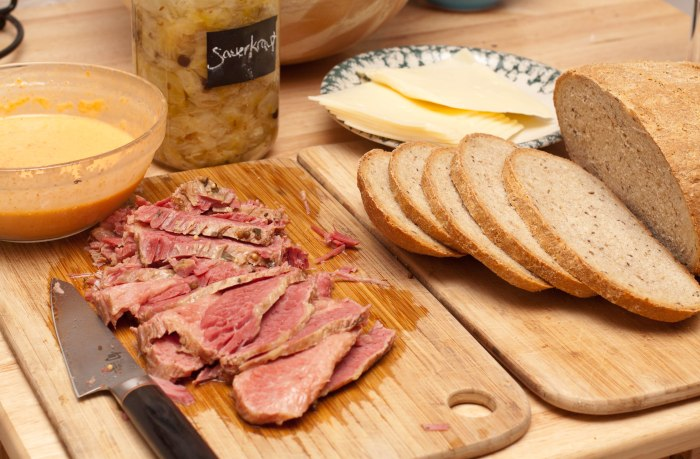 Reubens from Scratch! Homemade bread, homemade sauerkraut, homemade russian dressing, and Guinness corn beef!