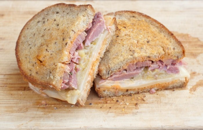 Reuben Sandwiches from Scratch are made with homemade bread, homemade sauerkraut, homemade Russian dressing, and Guinness corned beef!