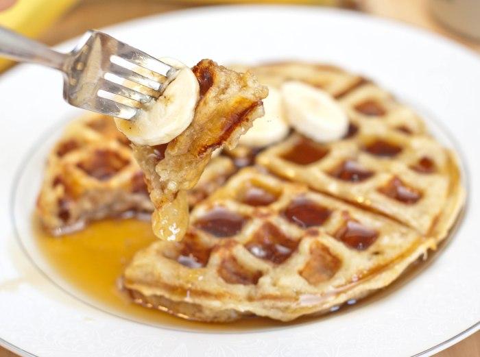 Homemade Banana Waffles