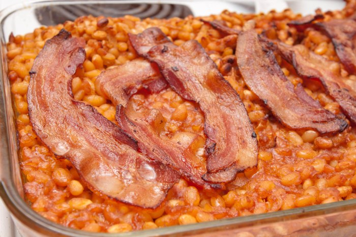 Homemade Baked Beans and Bacon